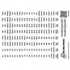 3racing (#3RAD-SK09) 3Racing Numbers and Text Label (Transparent/Black)