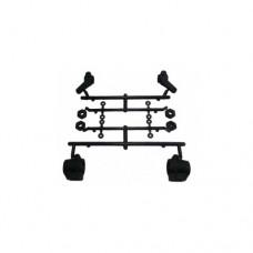 3racing (#CAC-117) Knuckle & Rear Hub Set For 3racing Cactus