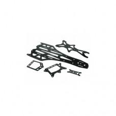 3racing (#F109-U13/WO) Graphite Chassis Conversion Kit For 3Racing F109