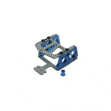 3racing (#KZ-06/BU/SG) AL Motor Mount W/ SSG Graphite Plate For Mini-Z MR-02 RM(90mm)