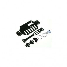 3racing (#M18T-22/BU/WO) Graphite Main Chassis Kit For M18T