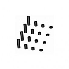 3racing (#M4WD-01/BK) 2mm Spacer Set (black)