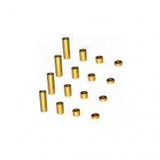 3racing (#M4WD-01/GO) 2mm Spacer Set (gold)