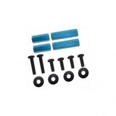 3racing (#M4WD-02/LB) 4mm Hex post set (light blue)