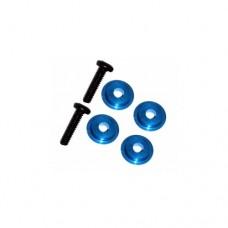 3racing (#M4WD-03/LB) M6.4 X 1.7 Ball Bearing Spacer (light blue)