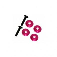 3racing (#M4WD-03/PK) M6.4 X 1.7 Ball Bearing Spacer (Pink)