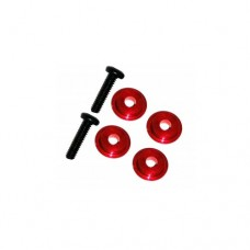 3racing (#M4WD-03/RE) M6.4 X 1.7 Ball Bearing Spacer (red)