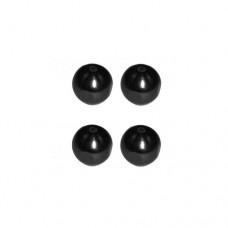 3racing (#M4WD-04/BK) 6mm Damper Ball (black)