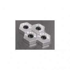 3racing (#RE-058/S) Wheel Adaptor For Revo (4 pcs) - Silver