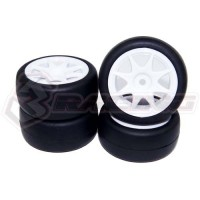 3racing (#SAK-MG20) Rubber Tire Set For KIT-MINI MG