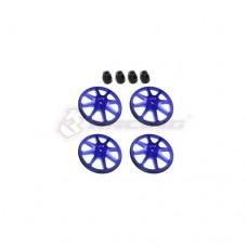 3racing (#ST-001/V2/BU) Setup Wheels (4 Pcs) - Ver. 2 - Blue