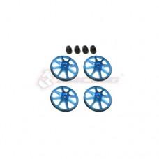 3racing (#ST-001/V2/LB) Setup Wheels (4 Pcs) - Ver. 2 - Light Blue