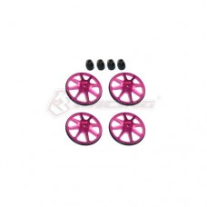 3racing (#ST-001/V2/PK) Setup Wheels (4 Pcs) - Ver. 2 - Pink