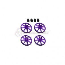 3racing (#ST-001/V2/PU) Setup Wheels (4 Pcs) - Ver. 2 -Purple