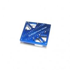 3racing (#ST-007/BU) Pinion & Camber Gauge - Blue