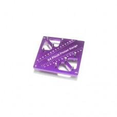 3racing (#ST-007/PU) Pinion & Camber Gauge - Purple