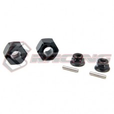 3racing (#T301-02) 12MM Hex Wheel Hub 7mm Offset For T301