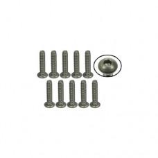 3racing (#TS-BS4120M) #4-40 x 1/2 Titanium Button Head Hex Socket - Machine (10 Pcs)