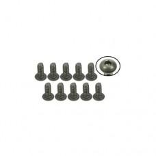 3racing (#TS-BS4140M) #4-40 x 1/4 Titanium Button Head Hex Socket - Machine (10 Pcs)