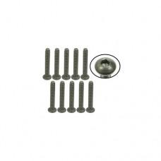 3racing (#TS-BS4340M) #4-40 x 3/4 Titanium Button Head Hex Socket - Machine (10 Pcs)