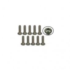 3racing (#TS-BS4380M) #4-40 x 3/8 Titanium Button Head Hex Socket - Machine (10 Pcs)