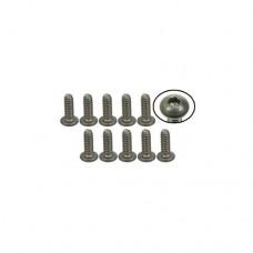 3racing (#TS-BS4516M) #4-40 x 5/16 Titanium Button Head Hex Socket - Machine (10 Pcs)