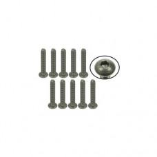 3racing (#TS-BS4580M) #4-40 x 5/8 Titanium Button Head Hex Socket - Machine (10 Pcs)