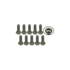 3racing (#TS-BSM206M) M2 x 6 Titanium Button Head Hex Socket - Machine (10 Pcs)