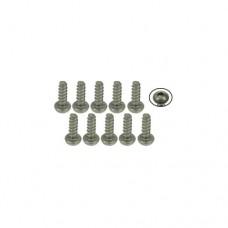 3racing (#TS-BSM206S) M2 x 6 Titanium Button Head Hex Socket - Self Tapping (10 Pcs)