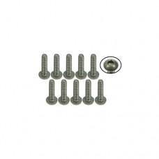 3racing (#TS-BSM208M) M2 x 8 Titanium Button Head Hex Socket - Machine (10 Pcs)