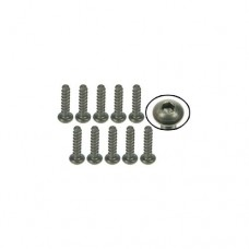 3racing (#TS-BSM208S) M2 x 8 Titanium Button Head Hex Socket - Self Tapping (10 Pcs)