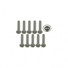 3racing (#TS-BSM210S) M2 x 10 Titanium Button Head Hex Socket - Self Tapping (10 Pcs)