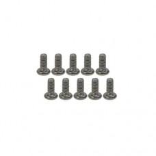 3racing (#TS-BSM2606M) M2.6 x 6 Titanium Button Head Hex Socket - Machine (10 Pcs)