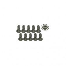 3racing (#TS-BSM308S) M3 x 8 Titanium Button Head Hex Socket - Self Tapping (10 Pcs)