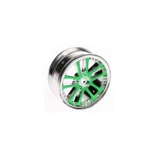 3racing (#WH-02/GR) 1/10 5 Dual Spoke Rim On Road (0 Offset - 24mm) 4pcs- Green