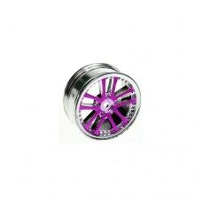 3racing (#WH-02/PU) 1/10 5 Dual Spoke Rim On Road (0 Offset - 24mm) 4pcs- Purple