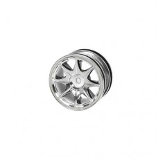 3racing (#WH-04/SI) 1/10 8 Spoke Wheel Set For Tamiya M-Chassis Series (4pcs)- Silver