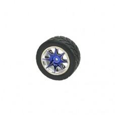 3racing (#WH-05/BU) 1/10 8 Spoke Wheel & Tyre Set For Tamiya M-Chassis Series (4pcs)- Blue