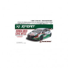3racing (#KIT-MK9XS) 3RACING Sakura XI Sport 1/10 Touring & Honda Civic MK9 WTCC Body Set